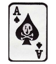 Ace of Spades Skull Death Card Patch, Biker Patches