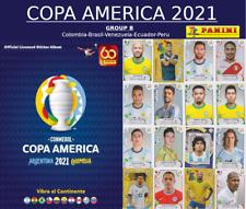PANINI COPA AMERICA 2021 - GROUP B - Colombia-Brazil-Venezuela-Ecuador-Peru