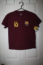 FCB--MESSI #10--Youth Short Sleeve T-Shirt 100% Cotton--M--NWT