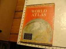 Vintage book: Hammond-Doubleday illustrated world atlas 1954