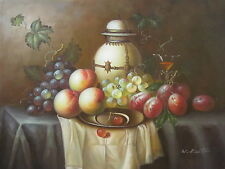 """Gault Fruits Original Hand Painted 12""""x16"""" Oil Painting Food Canvas Art"""