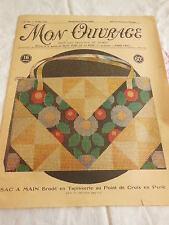 MON OUVRAGE 1931 n°198 sac tapisserie abat jour opalose mouchoir