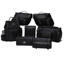 9 Pc Discount Motorcycle Luggage Set   Saddlebags Tool bag, Barrel Bag, Backpack
