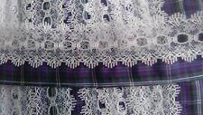 BEAUTIFUL KNITTING IN EYELET LACE WITH TARTAN TRIM PRIDE OF BANNOCKBURN, NEW