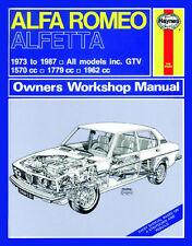 0531 Haynes Alfa Romeo Alfetta (1973 - 1987) up to E Workshop Manual