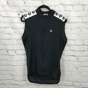 Pearl Izumi Cycling Shirt Mens Extra Large Black Sleeveless Mesh Pocket USA Made