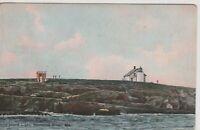 Maine, Pond Island Light (Lighthouse) 1918 Vintage  Postcard