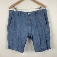 G Star Mens Shorts Size 34 Blue Good Condition