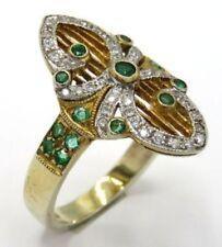 Anelli di lusso smeraldo in argento sterling zircone