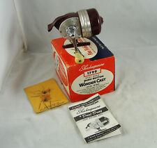 New listing Old Vintage SHAKESPEARE WONDERCAST No. 1799 Model EE Spincast Reel + Box + Paper