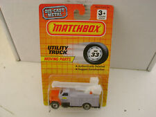 1990 MATCHBOX SUPERFAST MB 33 ENERCY INC. UTILITY TRUCK NEW ON CARD