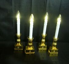 39.99LOT OF 4 ADJUSTABLE BATTERY OPERATED WINDOW CANDLES BY BETHLEHEM LIGHTS