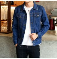 New Men's Spring Autumn Slim Denim Jackets Coat Washed Retro Jean Jacket Coats