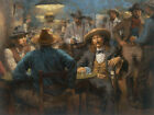 Andy Thomas Wild Bill's Last Deal Signed Open Edition Giclee on Canvas