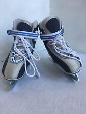 NEW SOFTEC JACKSON ICE SKATES SZ 5 W GUARDS GRAY BLUE WHITE