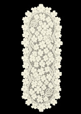 "Heritage Lace ECRU DOGWOOD 14""x33"" Table Runner"