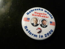Nebraska Reform Party Pin Back Presidential Campaign Political Button Hagelin