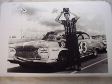 1960 PLYMOUTH RACE CAR WITH RICHARD PETTY    11 X 17  PHOTO   PICTURE