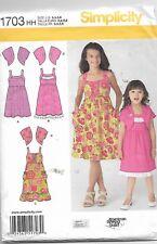 Simplicity #1703 CHILD'S SUMMER  DRESS & BOLERO Sewing Pattern Uncut 3, 4, 5, 6