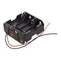 Schwarzer Batteriehalter fuer 8 Stk. AA Batterien(12v) R6U3