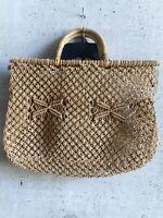 Vintage French Straw Wicker Bag