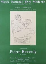 PIERRE REVERDY Picasso, AFFICHE D'EXPOSITION,Musée National d'Art Moderne -1970