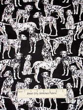 Dalmatian on Red By The Yard CFIRED08030
