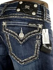 "$108 Buckle Miss Me Jean ""Thick Picked Stitching"" Dark Denim Boot Cut 32 X 29"
