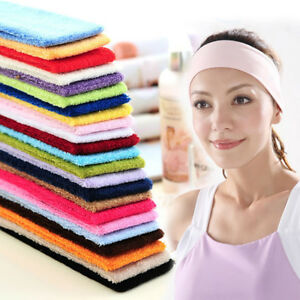 Unisex Sports Yoga Sweatband Cotton Stretch Headband Hair Band Headwear Decor