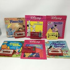 Lot of 6 Walt Disney Read-Along Books And Cassette Tapes Vintage