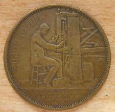 MEDAILLE BELGE MONNAIE DE BRUXELLES 1910 par A.MICHAUX.