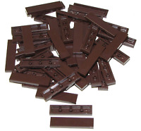 Lego Lot of 50 New Dark Brown Tiles 1 x 4 Flat Smooth Pieces Parts