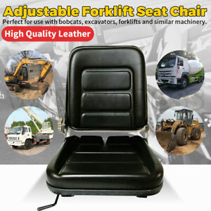 Forklift Seat Chair Adjustable Leather Bobcat Tractor Excavator Machinery AU New