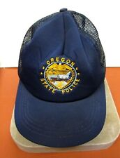 OREGON STATE POLICE NEW ERA CAP SNAPBACK USA SIZE M/L BLUE ORANGE EAGLE WAGON