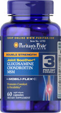 Puritan's Pride Glucosamine Chondroitin Double Strength MSM Joint Soother 60 Cap