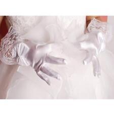 1 paio di fiori corti da sposa, guanti corti, fiocco in raso, costume da