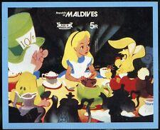 Maldives Disney Alice In Wonderland Souvenir Sheet Mint Nh