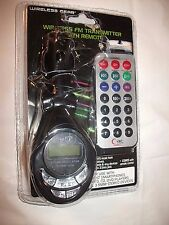 WIRELESS GEAR Wireless FM Transmitter with Remote with a Jack FREE Shipping