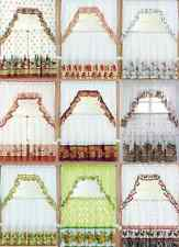 """3PC KITCHEN WINDOW CURTAIN TREATMENT TIERS AND SWAG SET 36"""" LONG COUNTRY STYLES"""