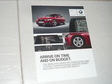 2013 small BMW Brochure 3 Series 3er F30 318d 520d F10 X1 18d XLine E84 SUV