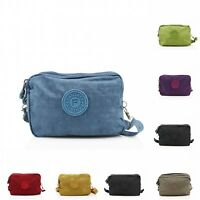 Girls Ladies Small 3 Pocket Sport Portable Organiser Purse Cross Body Bag
