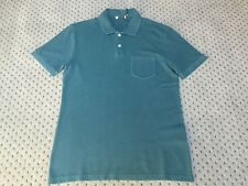 Brand New Men's Reiss Petrol Port Garment Dyed Polo Shirt Sizes S - Xl