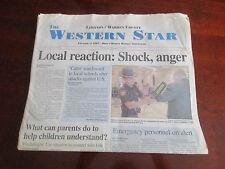 9/11 The Western Star Lebanon Warren Ohio Newspaper September 9/12/2001