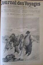 JOURNAL DES VOYAGES N° 893 de 1894 LAPONIE CUISINE JAPON MAROC MORT DU SULTAN