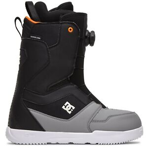 DC Scout Boa Snowboard Boots, US Men's Size 10, Frost Grey New 2021