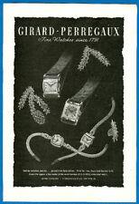 Girard-Perregaux Fine Watches, Magazine Print Ad, 1946