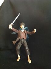 2002 Lord Of The Rings Frodo With Eleven Cloak Action Figure Marvel
