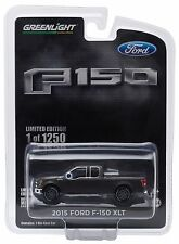 NEW! 1:64 Greenlight *MAGNETIC* 2015 Ford F-150 XLT Pickup Truck w/TOW HITCH