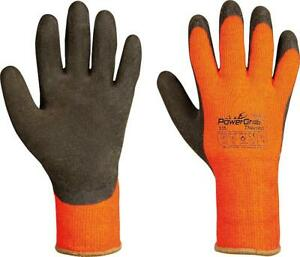 Grobstrickhandschuh, Paar Power Grap Thermo, orange/gelb Acryl/Baumwolle, Gr. 9