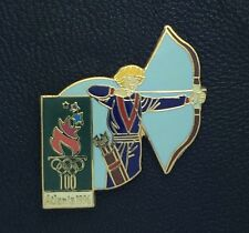 Olympic Pin Badge~Archery~Atlanta 1996~Torch~NEW ON CARD!!!
